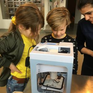 'High Tech workshop 3D chocolade printen'
